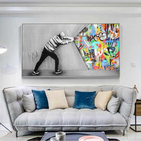 Urban Graffiti INspired Canvas wall print art decor
