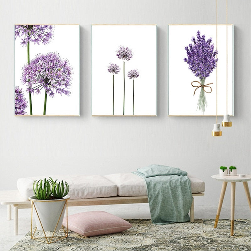Lavender Flowers Wall Decor