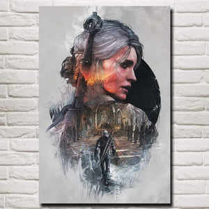 The Witcher 3 Video game poster wall art decor