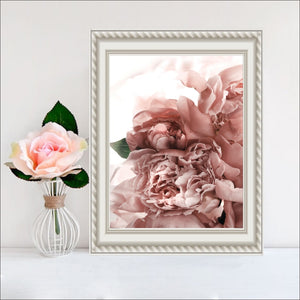 Pink & Green Calming Flowers on Print Canvas