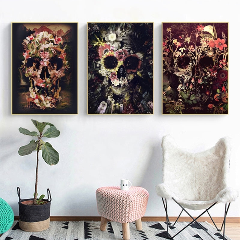 Sugar Skull Canvas Paintings