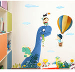 Large Dinosaur Park Wall Sticker for Nursery or Kids Room