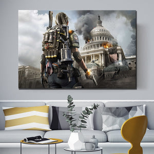 Tom Clancy's The Division 2  Inspired Oil Painting Print