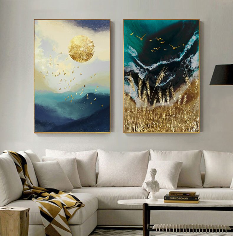 Gold Foil Canvas Print Wall Decor