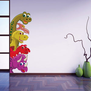 Bright 5 Dinosaurs Wall Stickers