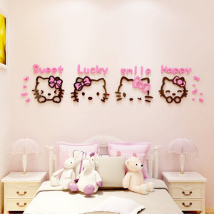 Kitty hello 3d Cut out nursery decor kids wall art