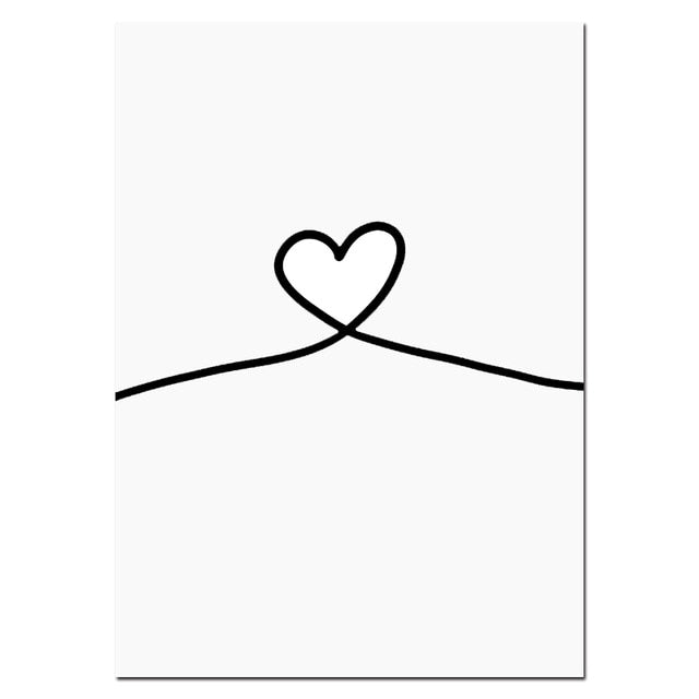 Black & White Love Wall Art (Split Piece)
