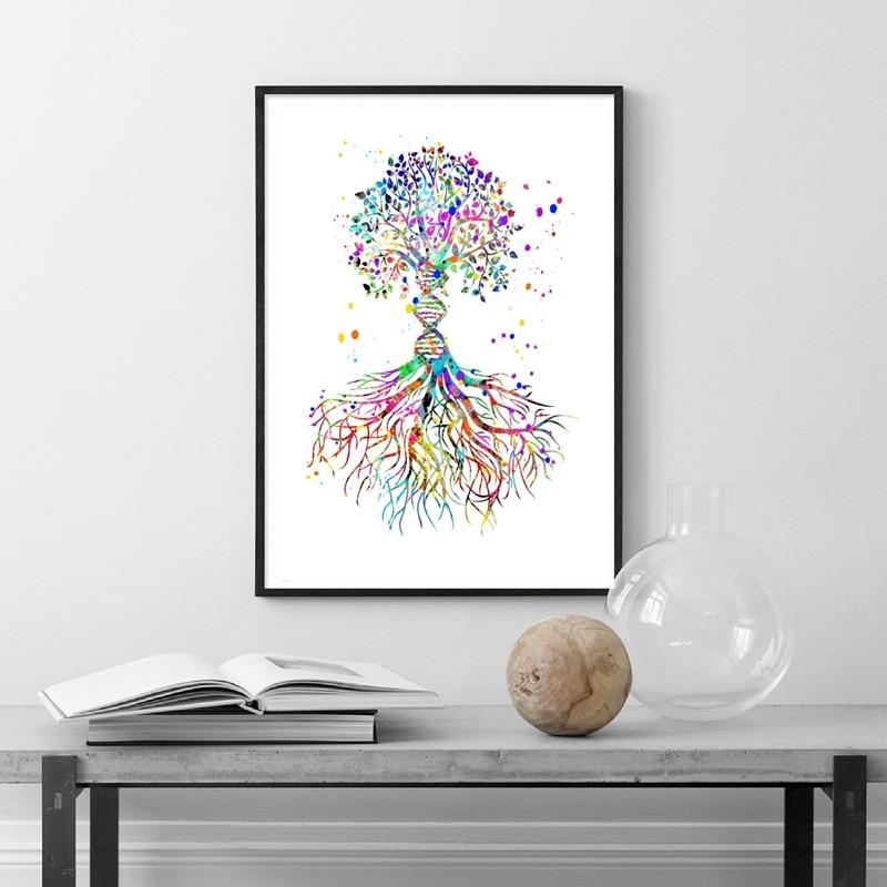 DNA Tree Canvas Print Wall Art Decor