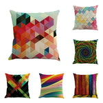 Geo Tiles Colorful Pillow Case