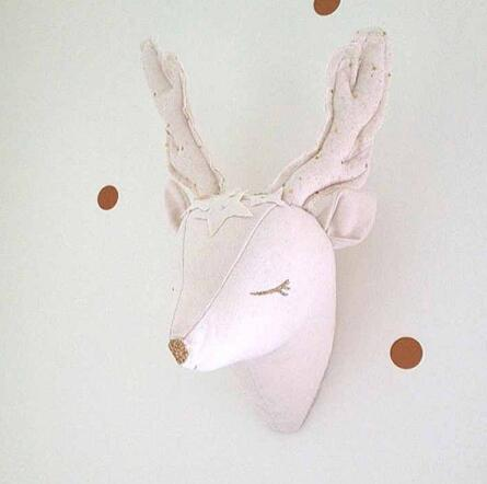 3D White Deer Wall Decoration