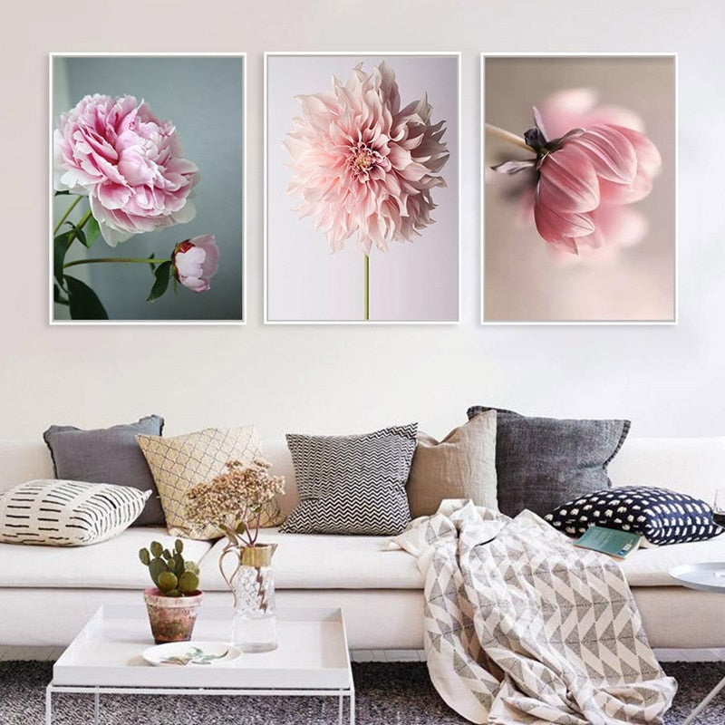 Beautiful Pink Flower Wall Art