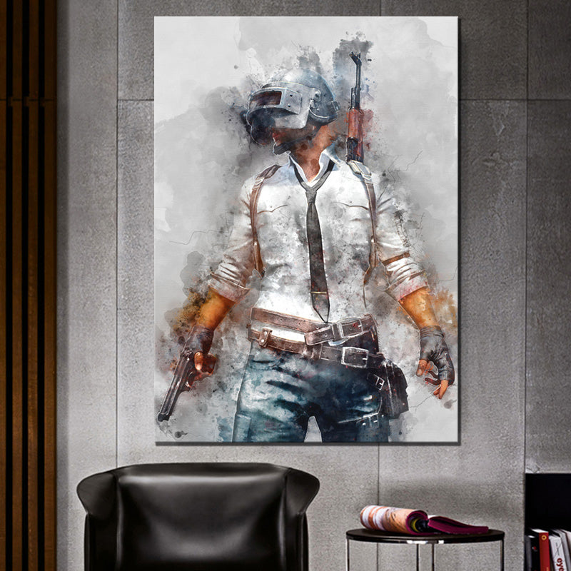 pubg player unknown's battlegrounds videogame poster wall art