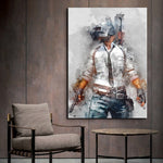 PUBG Player Unknown's Battlegrounds Inspired Wall Art