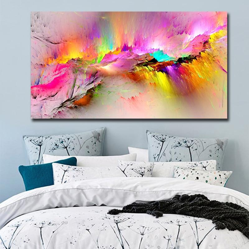 Abstract Wall Painting Canvas Print Decor
