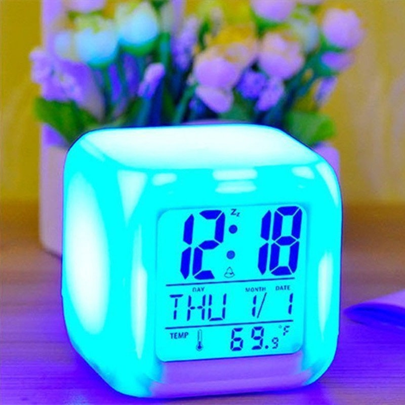 Glow In The Dark Cube LED Clock