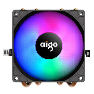 Aigo Darkflash PC CPU LED Cooling Fan Cooler (with 4 Heat pipes & Aluminum Heatsink)