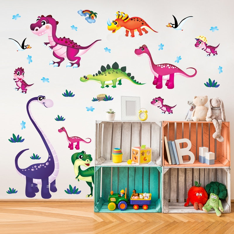 Baby nursery dinosaur decor wall art sticker