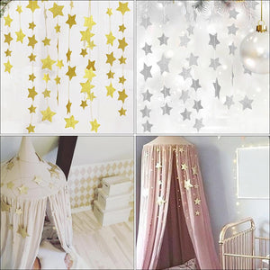 Hanging stars nursery decor