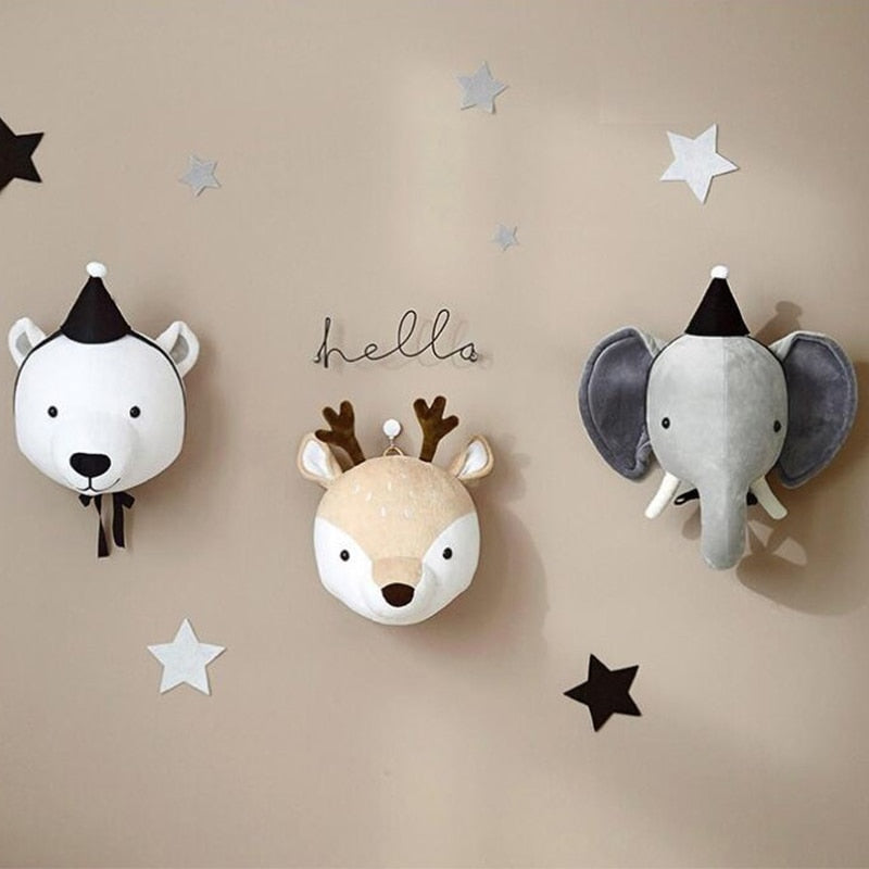 3D Animal Heads (Kids Room Decoration)