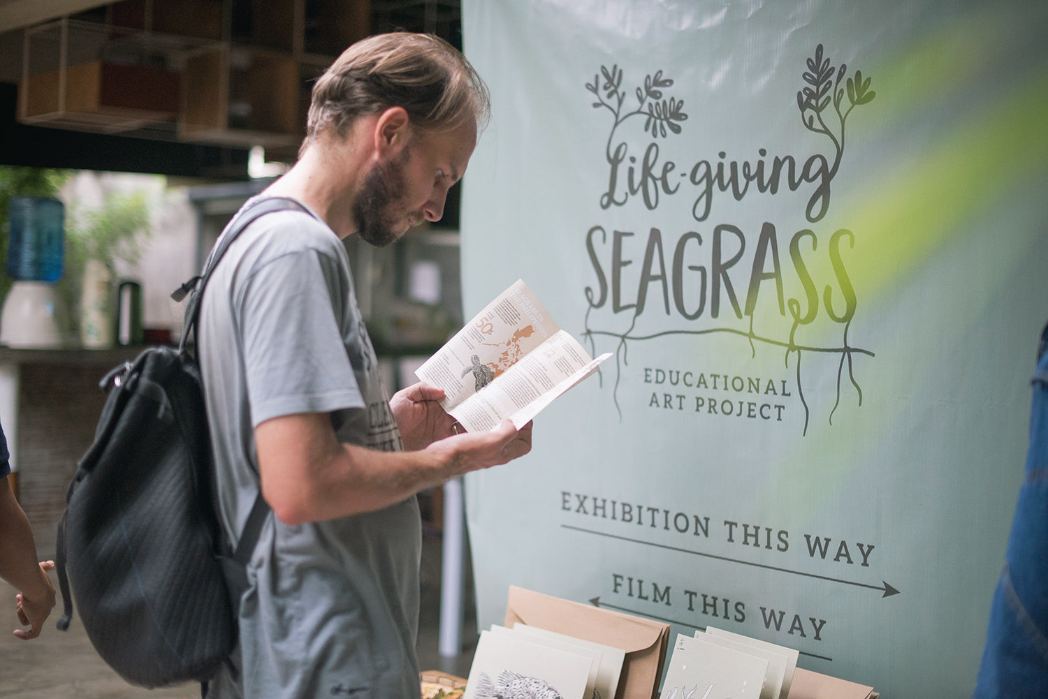 Dumaguete Philippines artist ocean protection seagrass exhibition
