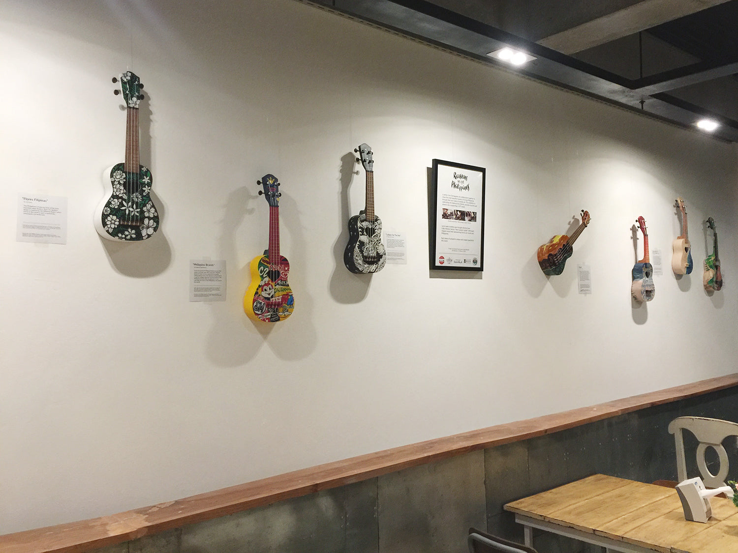 Dumaguete Philippines artist collaboration ukulele drawing exhibition LCP support