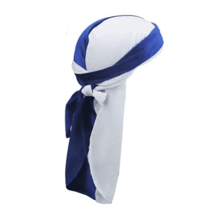 SAPPHIRE BLUE AND SNOW WHITE VELVET DURAG - Durag Dealer