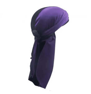 MIDNIGHT BLACK & GRAPE PURPLE VELVET DURAG - Durag Dealer