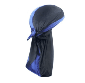 MIDNIGHT BLACK & SAPPHIRE BLUE VELVET DURAG - Durag Dealer