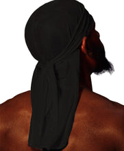 Load image into Gallery viewer, MIDNIGHT BLACK SILK DURAG