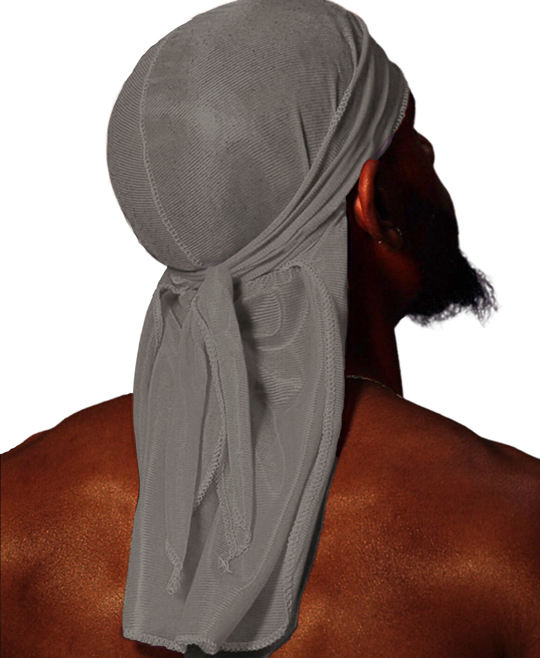 PEBBLE GREY SILK DURAG