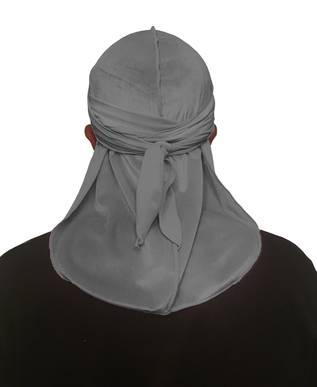 PEBBLE GREY VELVET DURAG
