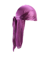Load image into Gallery viewer, GRAPE PURPLE SILK DURAG