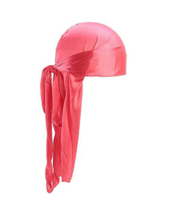 WATERMELON PINK SILK DURAG