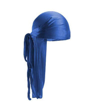 Load image into Gallery viewer, SAPPHIRE BLUE SILK DURAG