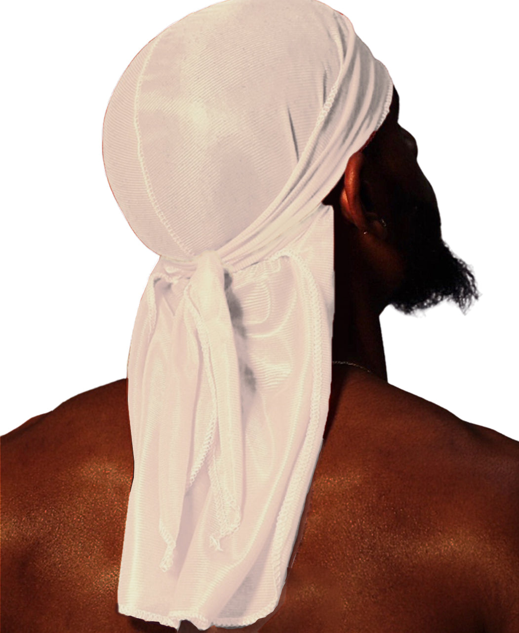 SNOW WHITE SILK DURAG