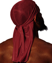 Load image into Gallery viewer, WINE RED SILK DURAG