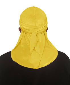 LEMON YELLOW VELVET DURAG