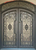 SEQUOIA- double arch top transom, bug screens, front entry wrought iron doors-72x96 Right Hand