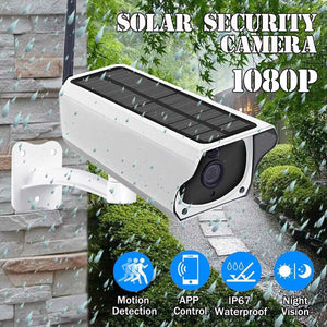 Solar & Weatherproof Security Camera