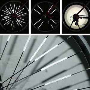 Bicycle Wheel Spoke Reflector (12PCS/PACK) - Fits All Standard Spoked Wheels