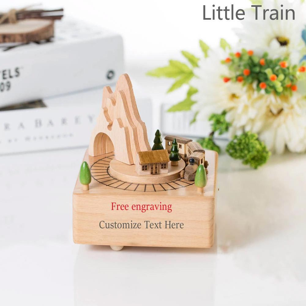 Custom Free Engrave Text Music Box