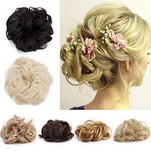 Messy Rose Hair Scrunchies