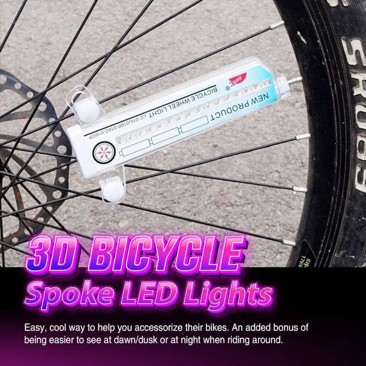 3D Bicycle Spoke LED Lights