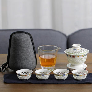 Portable Spring Blossom Teaware