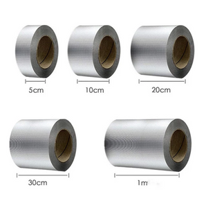 Aluminum Foil Butyl Rubber Tape Self Adhesive Waterproof for Roof Pipe Marine Repair