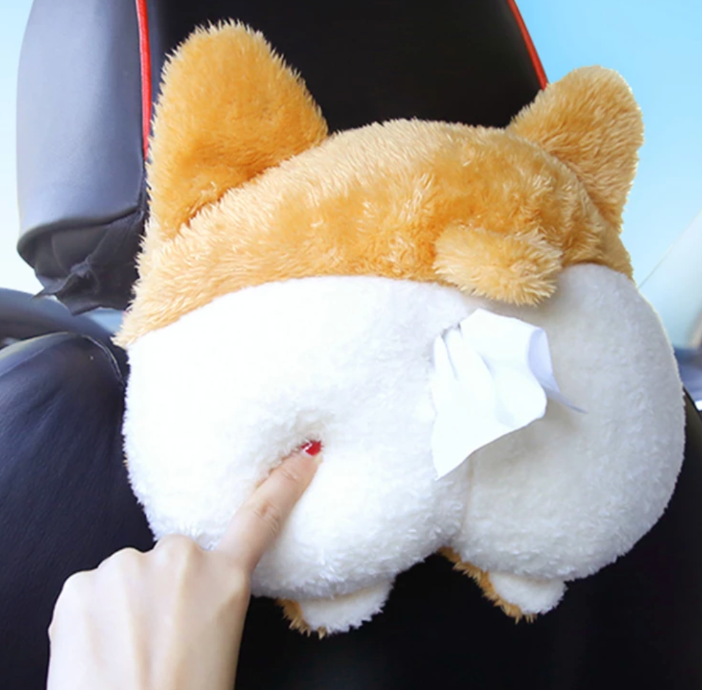 Corgi Ass Funny Car Tissue Paper Tray