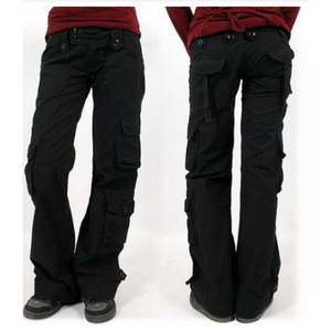 Multi-pocket Baggy Trousers Flared Cargo Pants