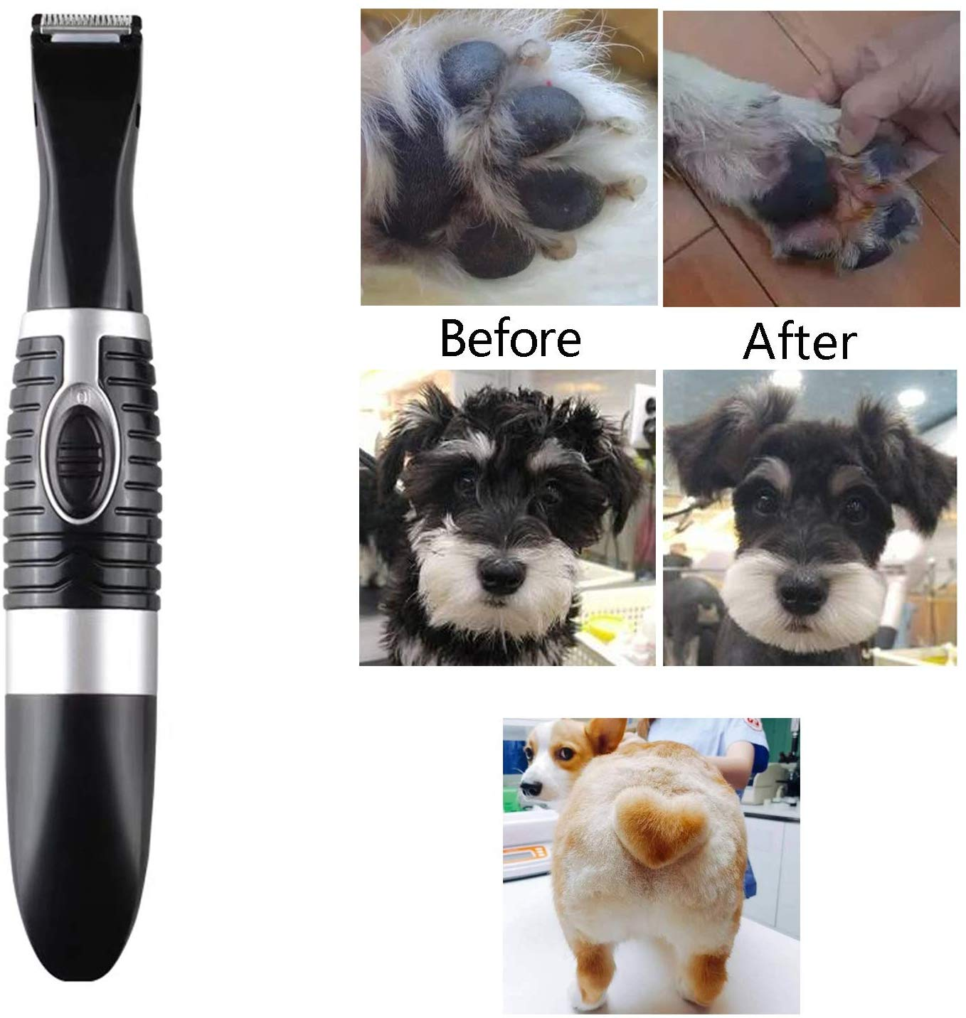 Pet Grooming Clippers for Trimming The Hair Around Paws, Eyes, Ears, Face, Rump