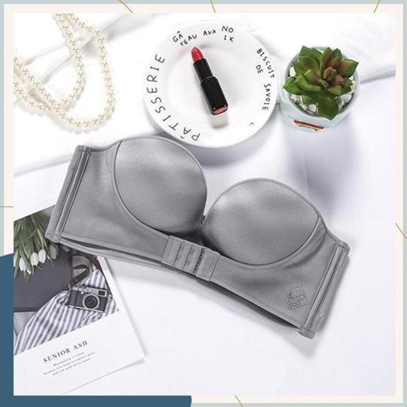 Strapless Front Buckle Lifting Bra