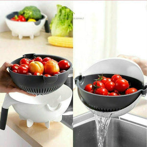 9 in 1 Vegetable Cutter with Drain Basket